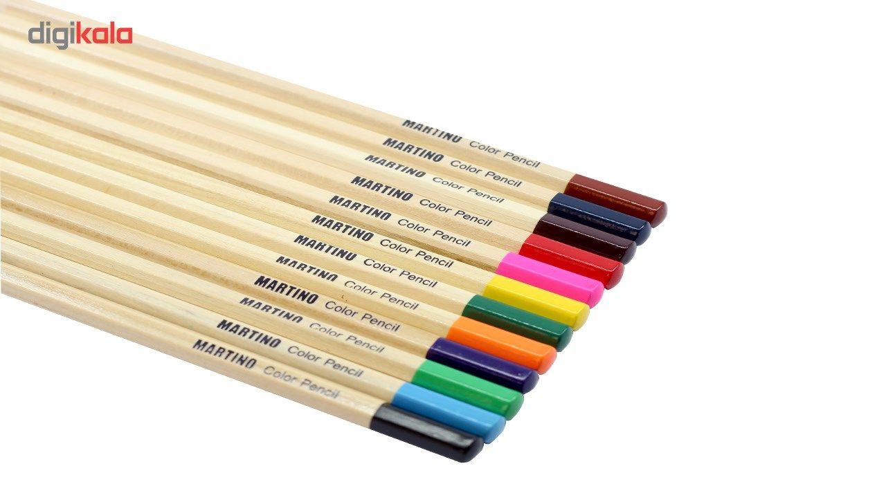 مداد رنگی 12 رنگ مارتینو مدل MA-512 main 1 2
