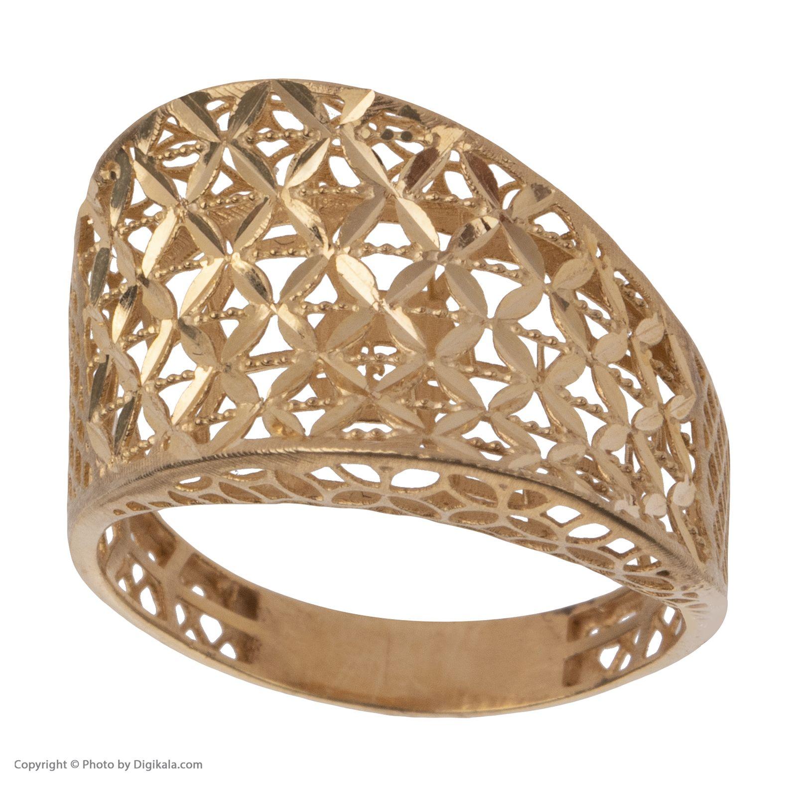 انگشتر طلا 18 عیار زنانه مایا ماهک مدل MR0380 -  - 3