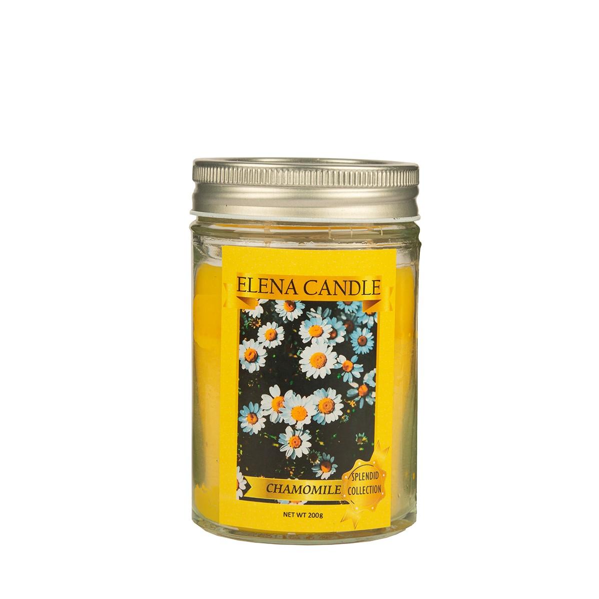 شمع لیوانی النا کندل مدل شکوفه بابونه کد 200g