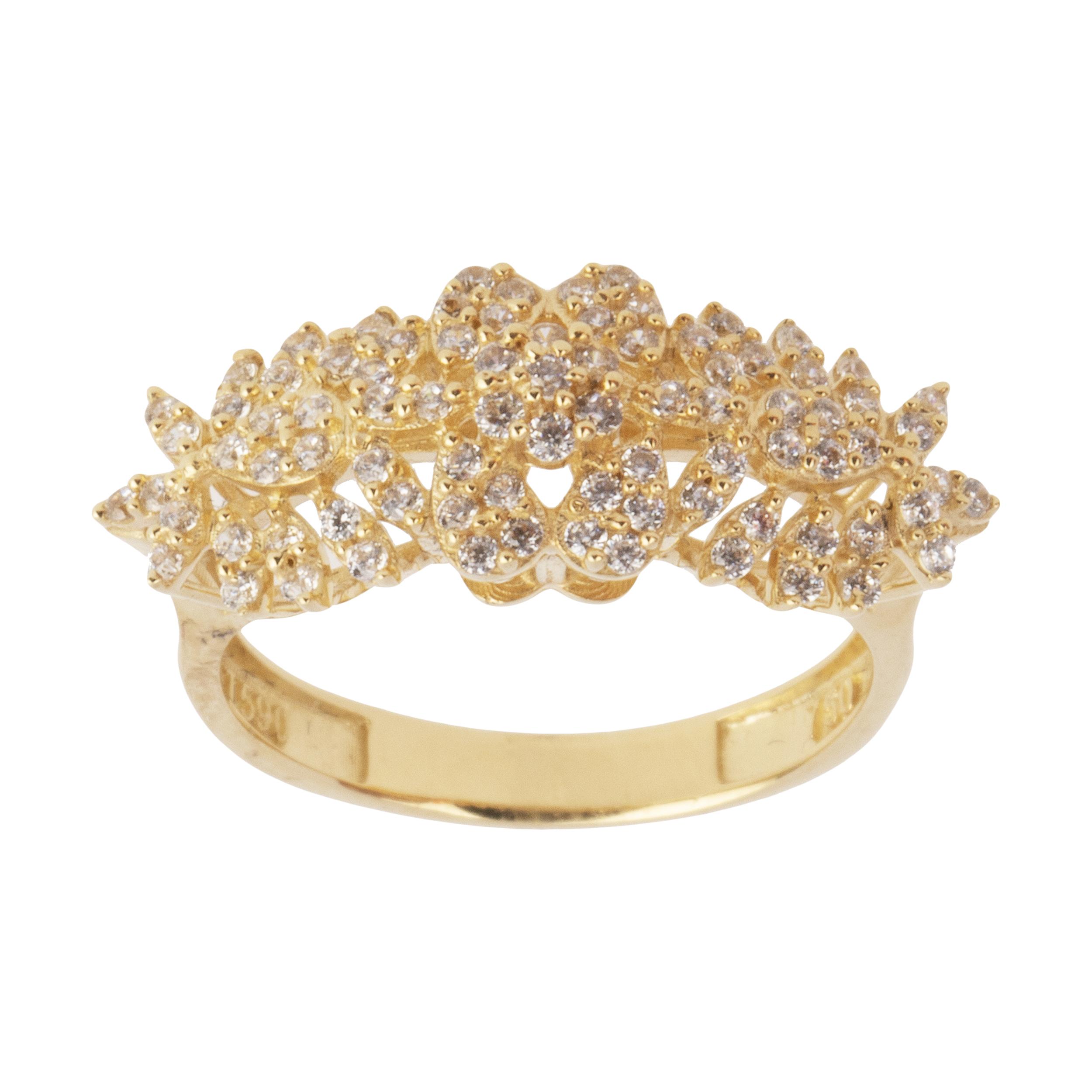 انگشتر طلا 18 عیار زنانه کانیار گالری کد AN16