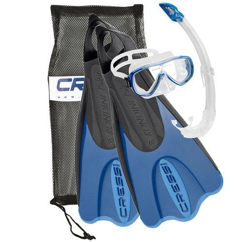 مجموعه اسنورکلینگ کرسی مدل  Elastic Short Bag Blue