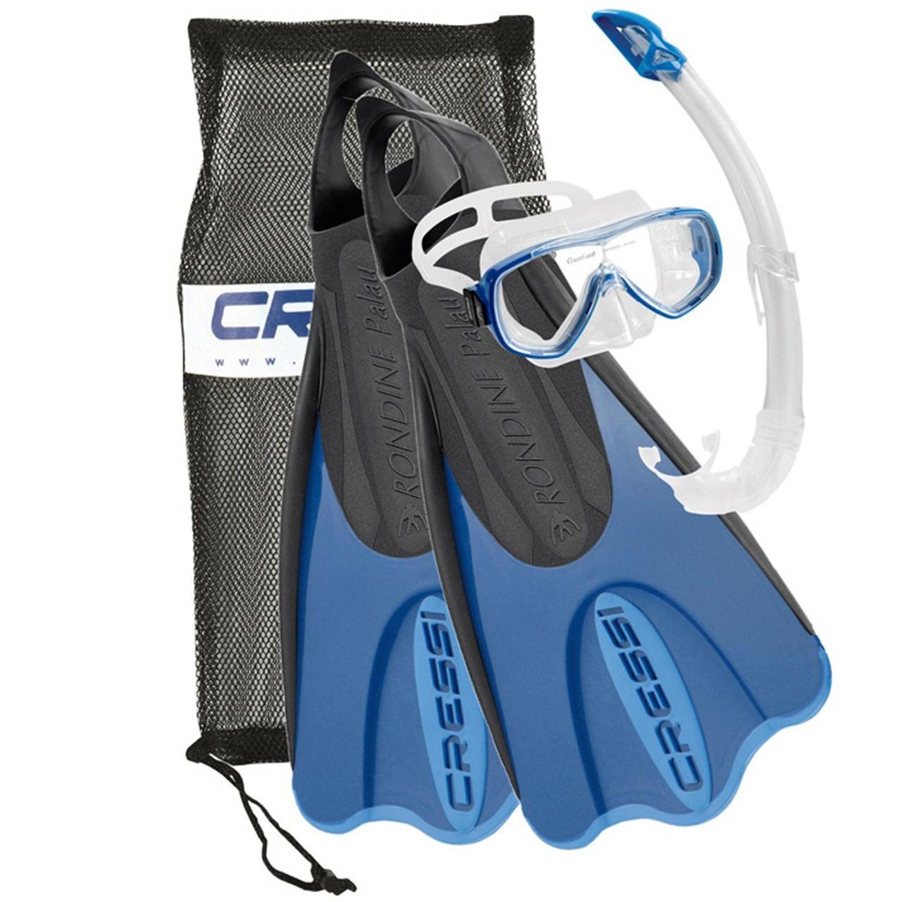 مجموعه اسنورکلینگ کرسی مدل  Elastic Short Bag Blue سایز 38-41