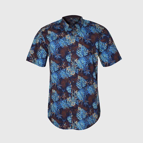 پیراهن آستین کوتاه مردانه مدل هاوایی کد 1
