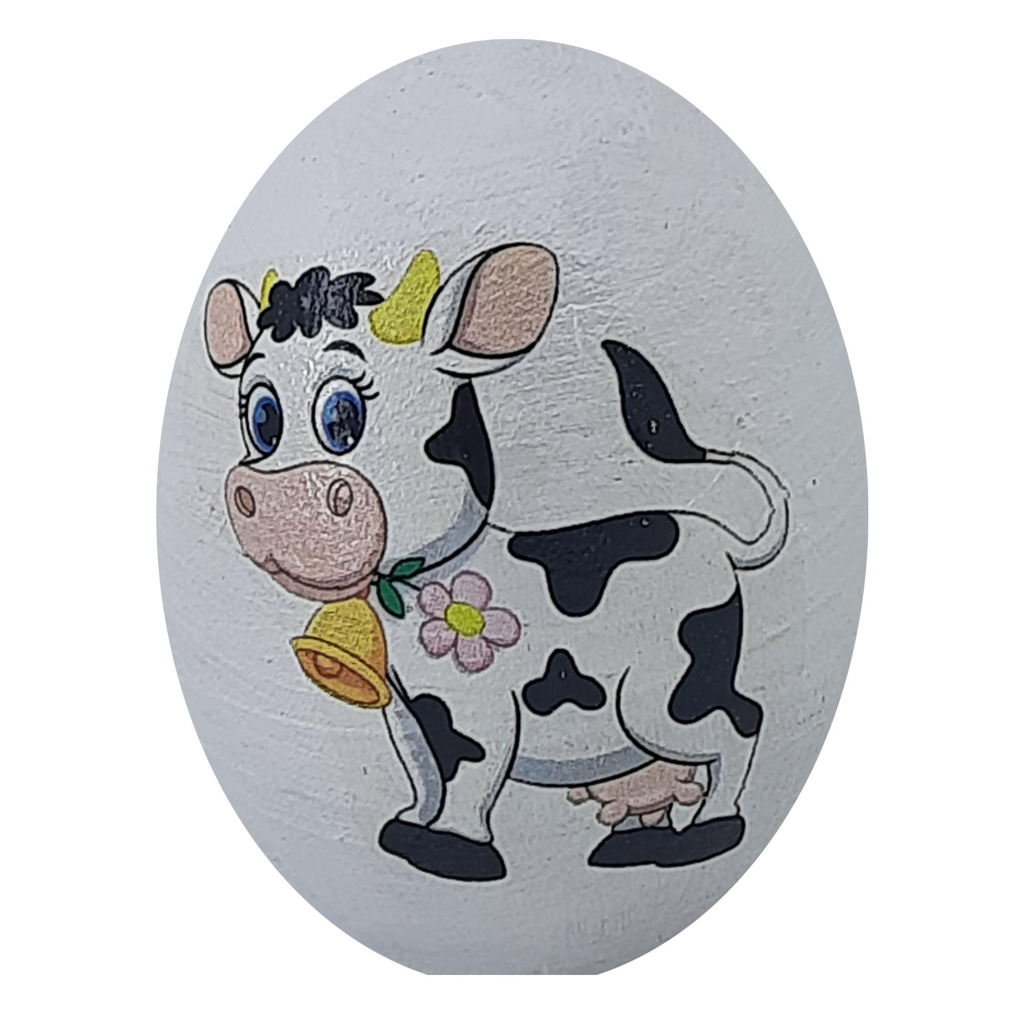 تخم مرغ تزیینی طرح گاو مدل ch3