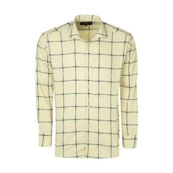 پیراهن آستین بلند مردانه مدل 45 رنگ کرم