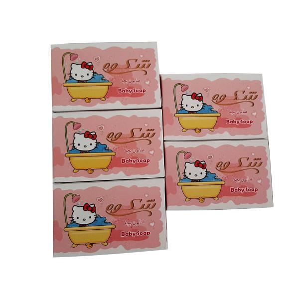 صابون بچه شکوه مدل PK وزن 75 گرم بسته 5 عددی