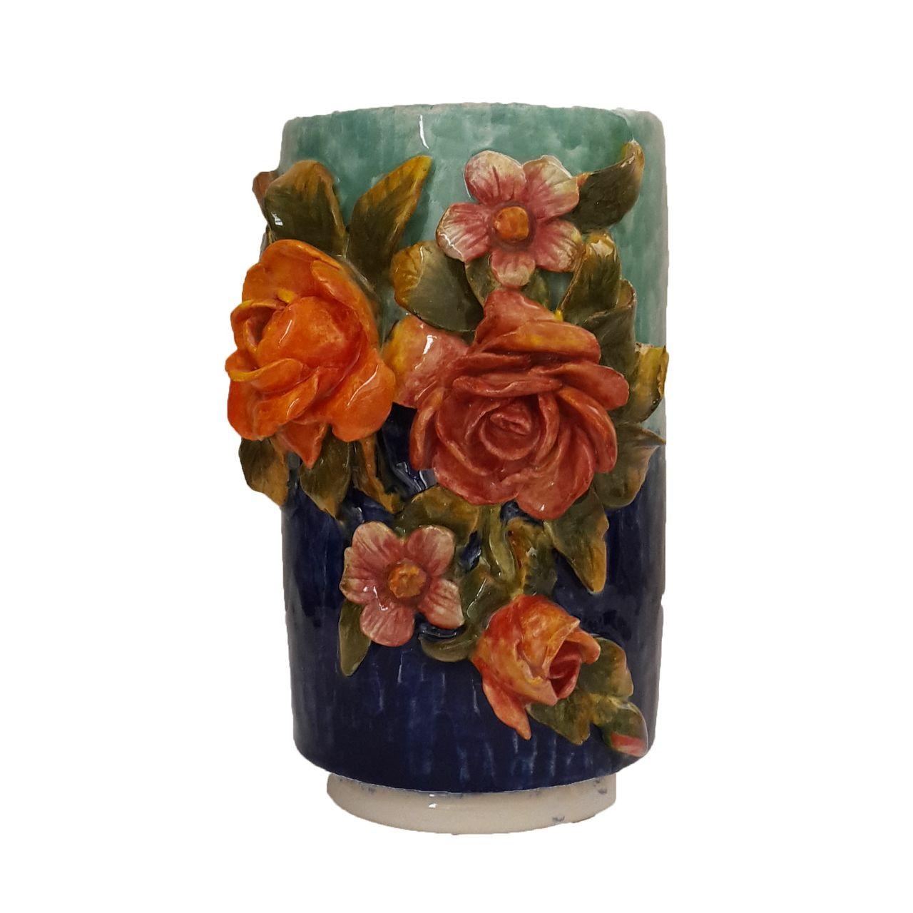 گلدان سفالی طرح برجسته کدabc123