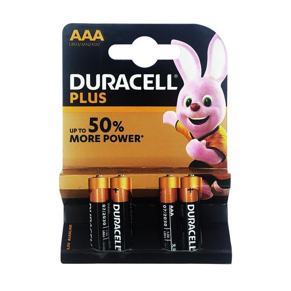 باتری نیم قلمی دوراسل مدل Plus-lr3 بسته 4 عددی