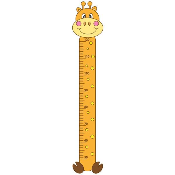 استیکر اندازه گیری قد ژیوار طرح زرافه