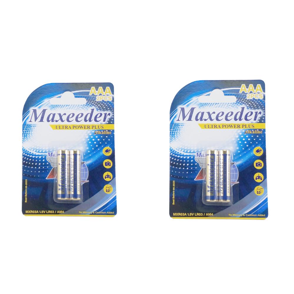 بررسی و {خرید با تخفیف} باتری نیم قلمی مکسیدر مدل MXR03A بسته 2 عددی اصل
