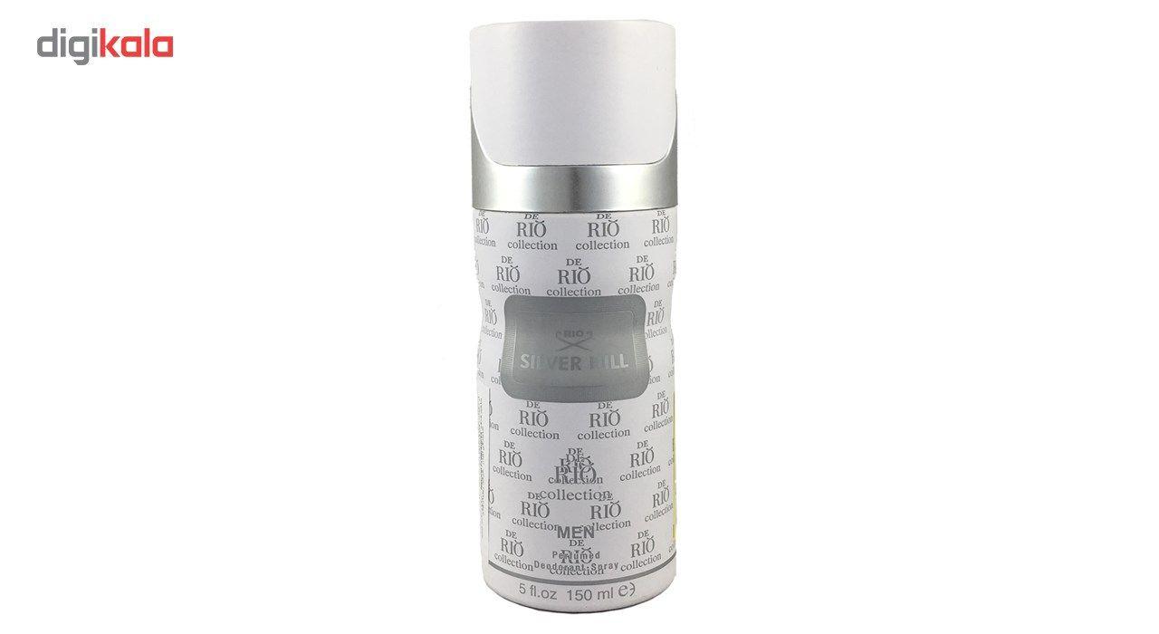 اسپری ضد تعریق مردانه ریو کالکشن مدل Rio Silver Hill حجم 150ml -  - 2