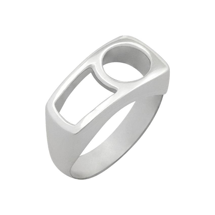 انگشتر نقره زنانه کد R207Psil -  - 2