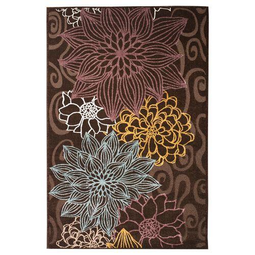 فرش ماشینی ساوین کد 1629 زمینه قهوه ای