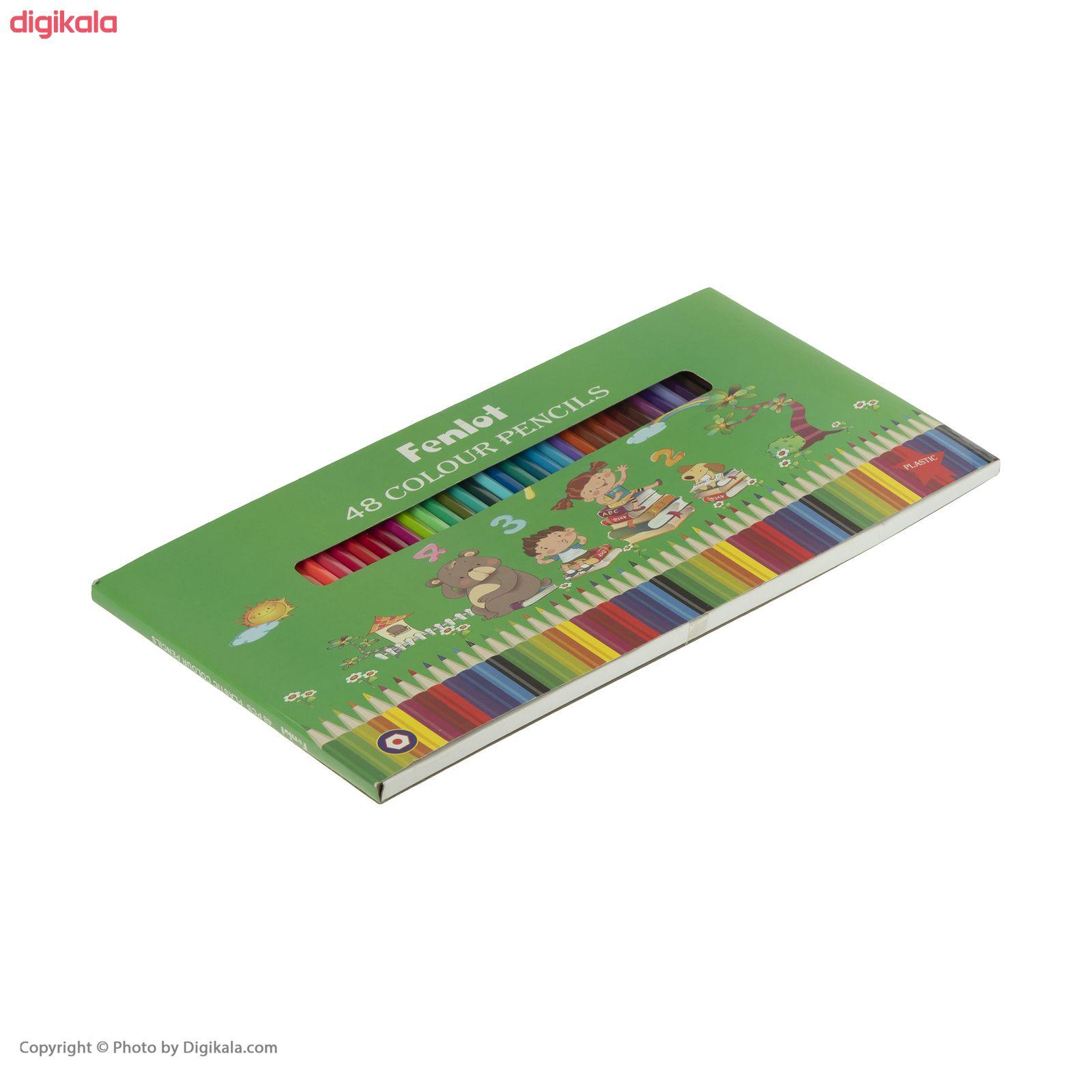 مداد رنگی 48 رنگ فنلوت مدل COLOR-48 main 1 10