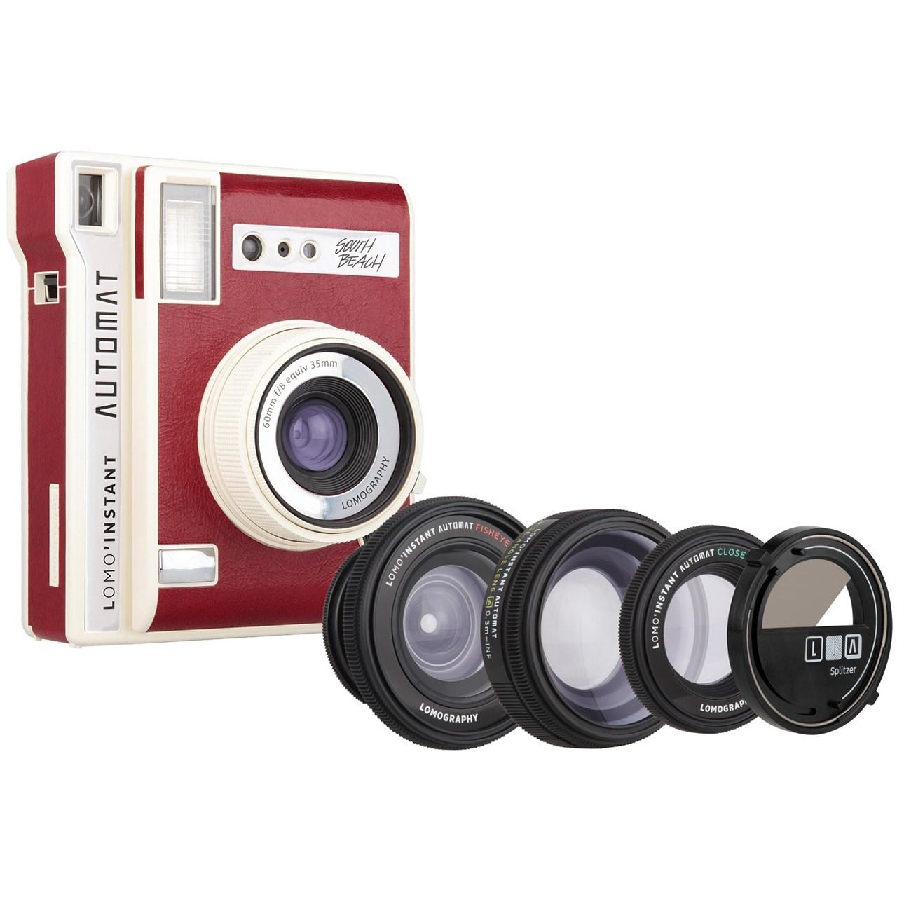 دوربین چاپ سریع لوموگرافی مدل Automat-South Beach به همراه سه لنز