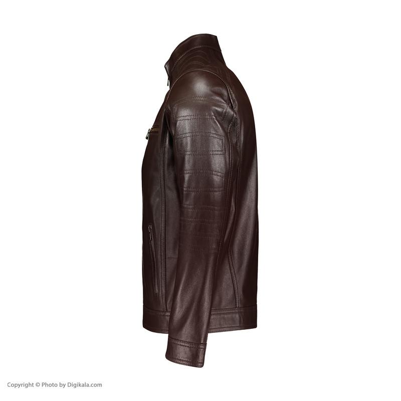 کت چرم مردانه شیفر مدل 7m76-2