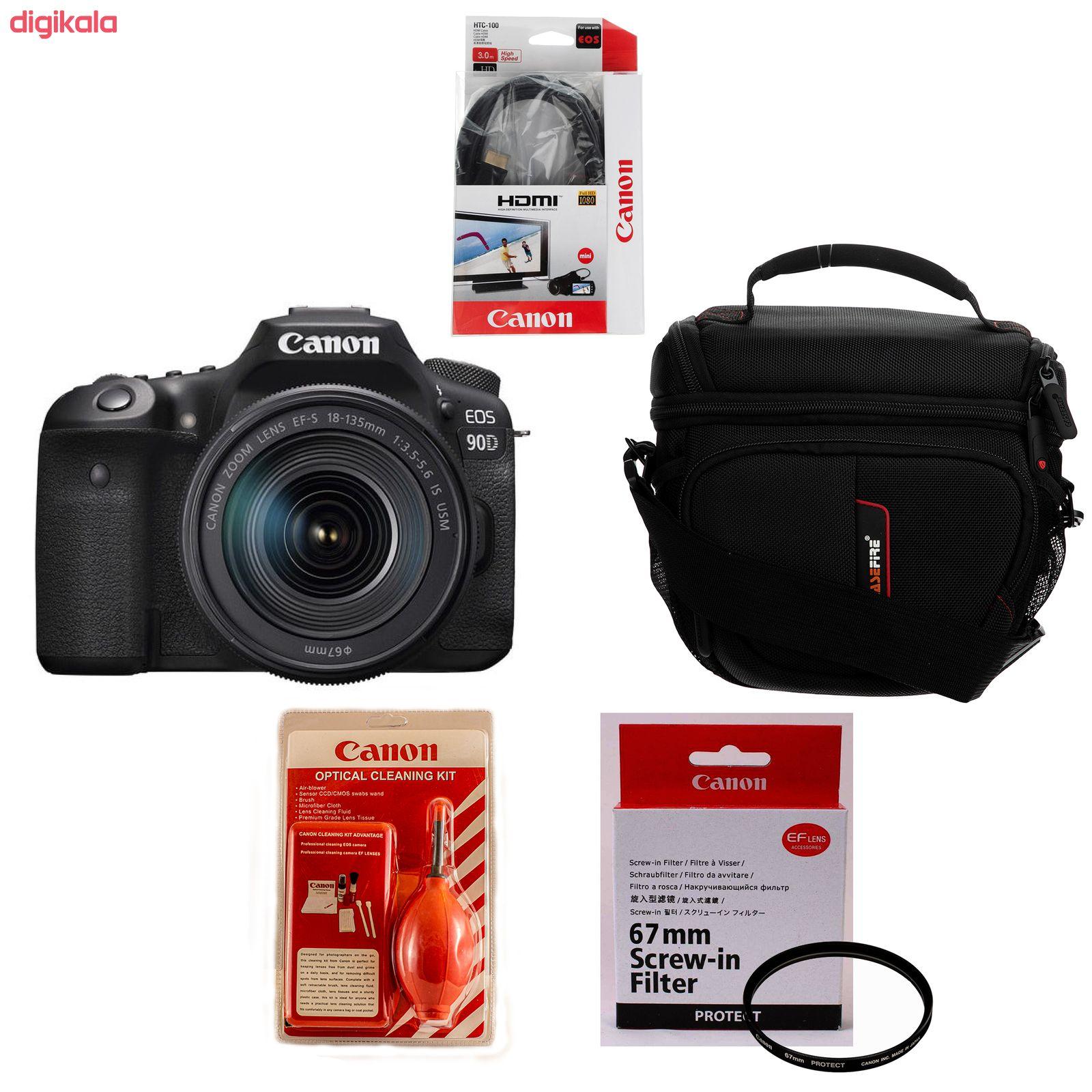 دوربین دیجیتال کانن مدل EOS 90D به همراه لنز 135-18 میلی متر IS USM main 1 4