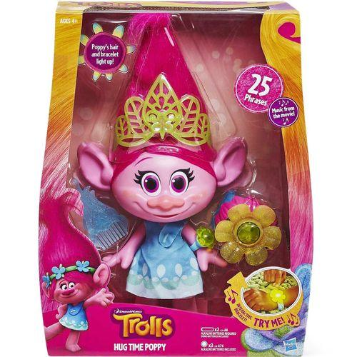 عروسک هاسبرو ترولز مدل DreamWorks Trolls Hug Time Poppy