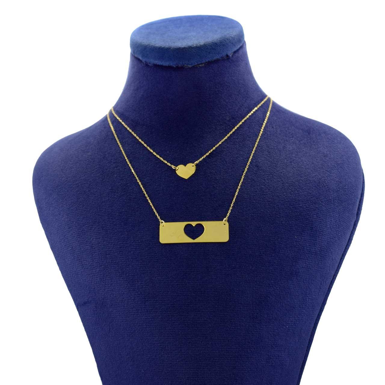 گردنبند طلا 18 عیار زنانه کانیار گالری مدل NE98