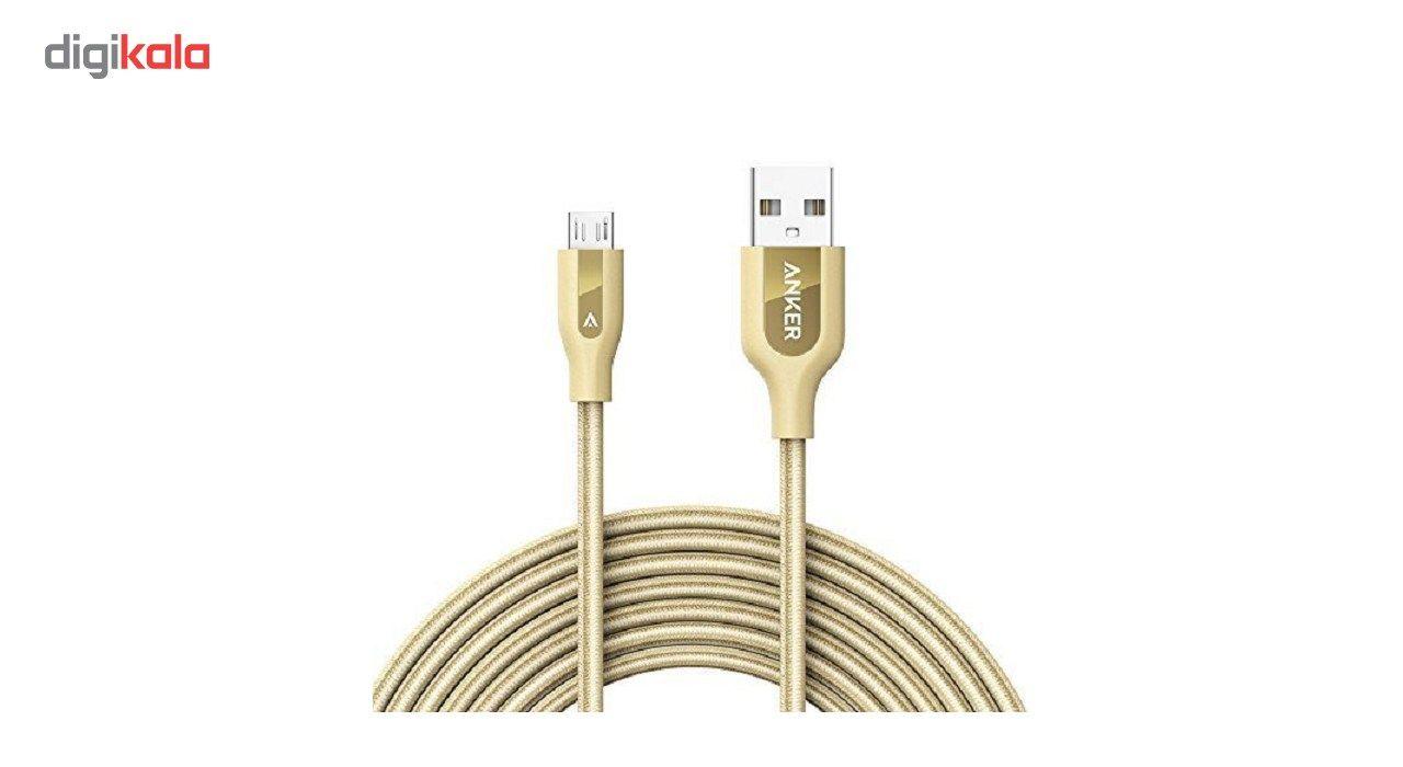 کابل تبدیل USB به microUSB انکر مدل A8144 PowerLine طول 3 متر main 1 12