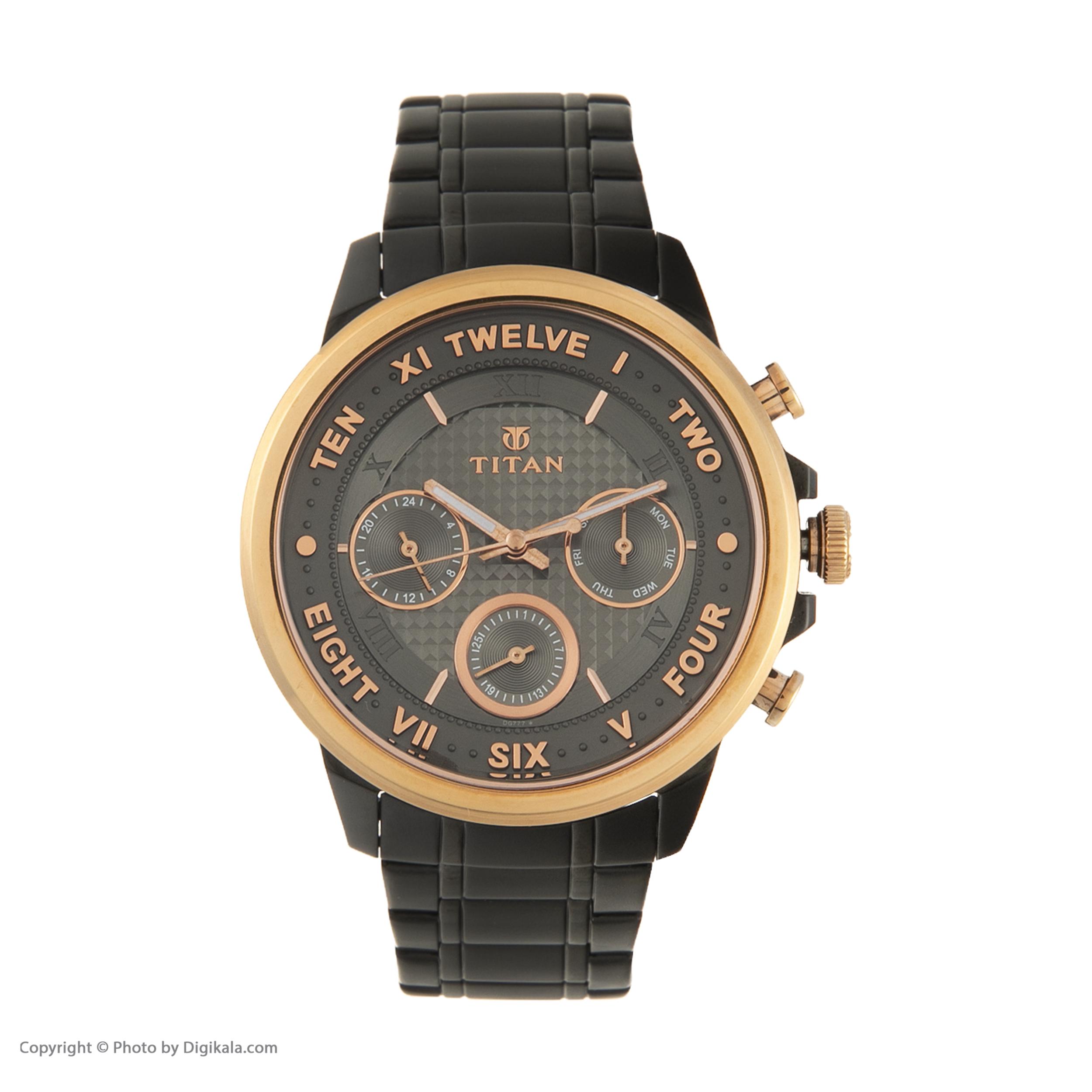 ساعت مچی عقربهای مردانه تایتن مدل T1747KM02