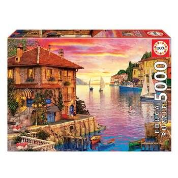 پازل 5000 تکه ادوکا مدل The Mediterranean Harbour کد 17135