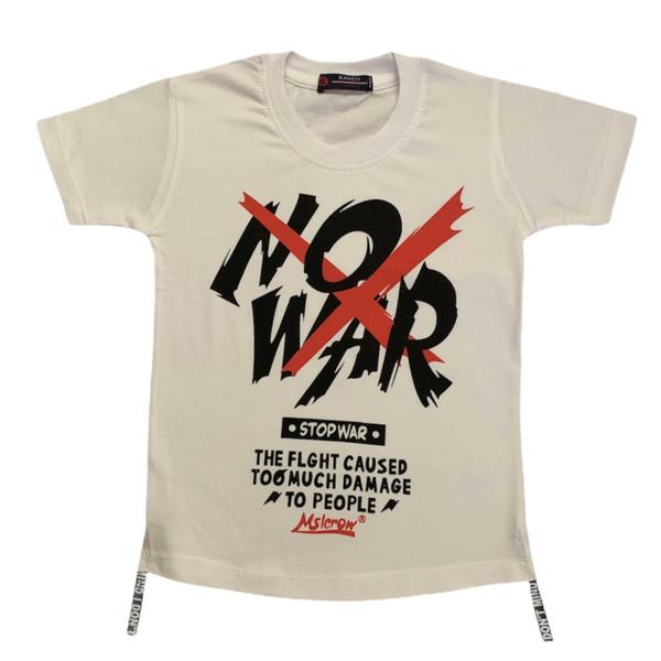 تی شرت پسرانه طرح NO WAR کد 230
