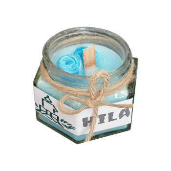 شمع لیوانی هیلا مدل شش ضلعی