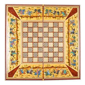 صفحه شطرنج خاتم کاری کروبی طرح چوگان کد 22