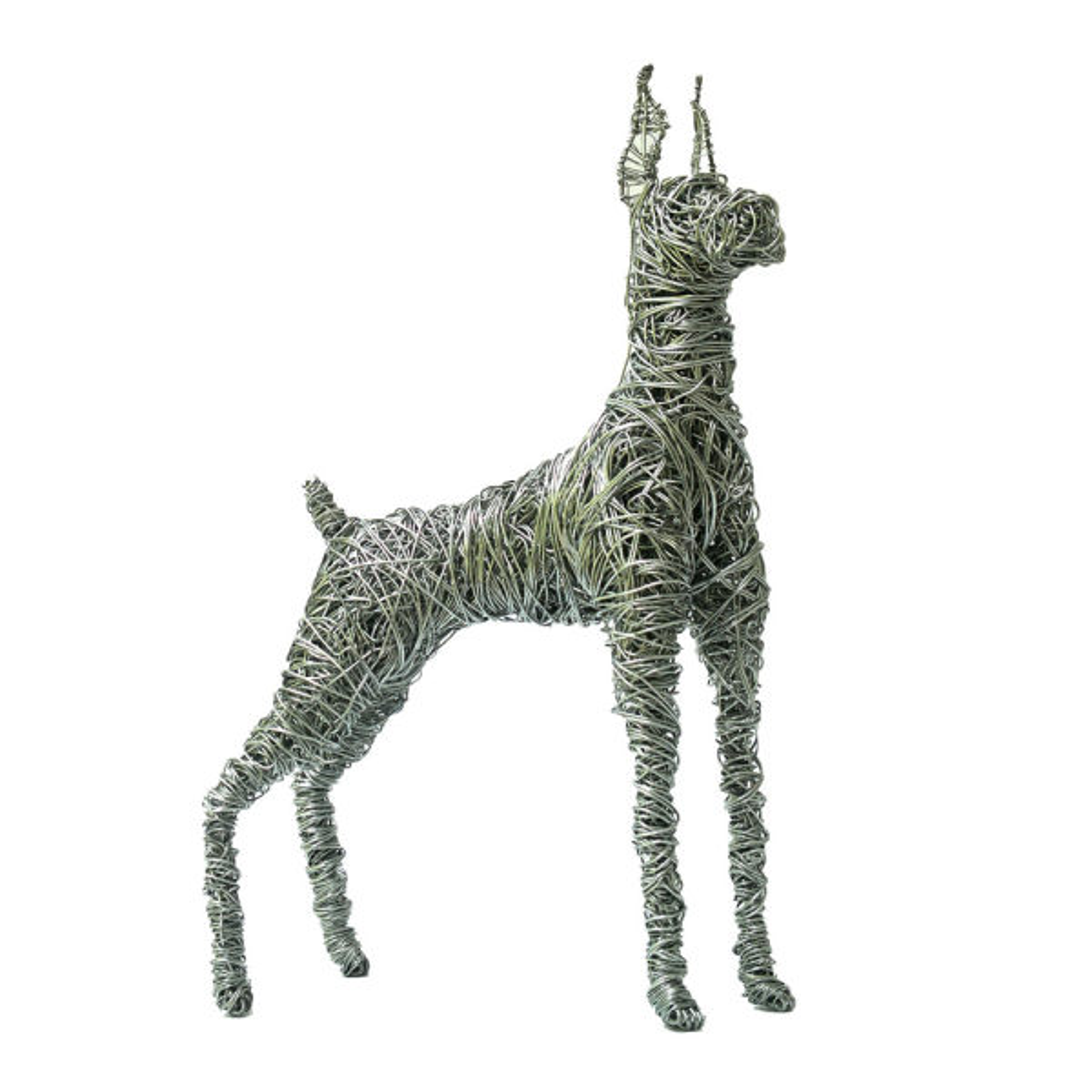 مجسمه سیمی آرانیک مدل سگ دوبرمن
