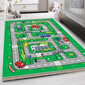 فرش پارچه ای مدل ضد حساسیت طرح اتاق کودک