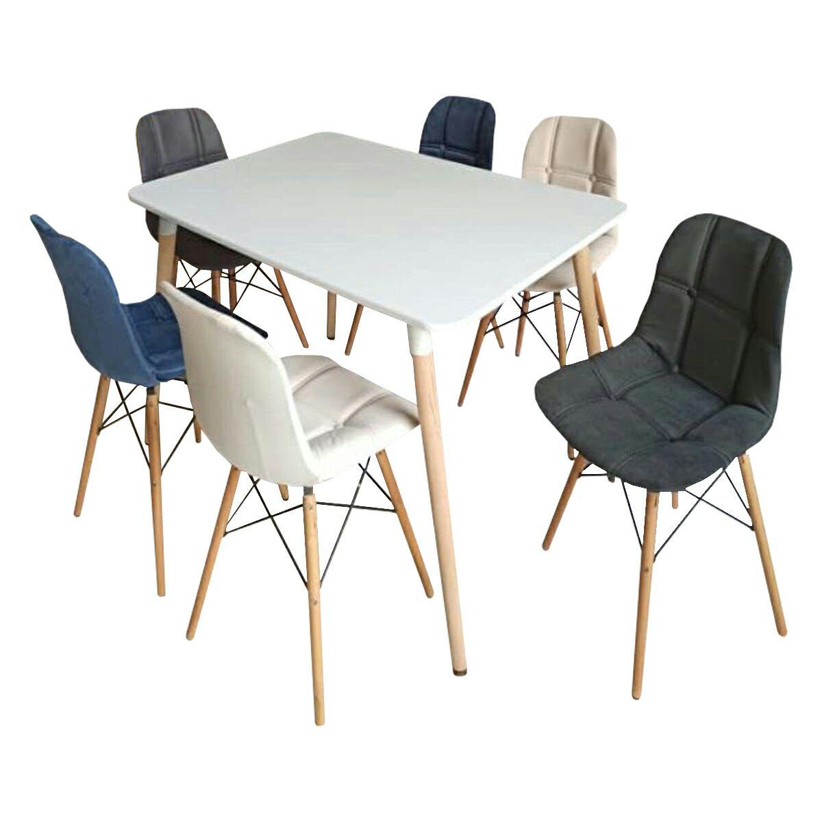 میز و صندلی ناهار خوری 6 نفره مدل A89