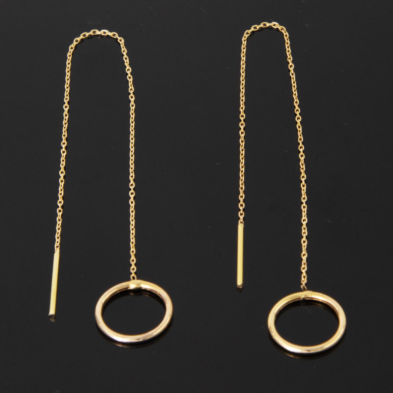 گوشواره طلا ۱۸ عیار زنانه مدل 67092