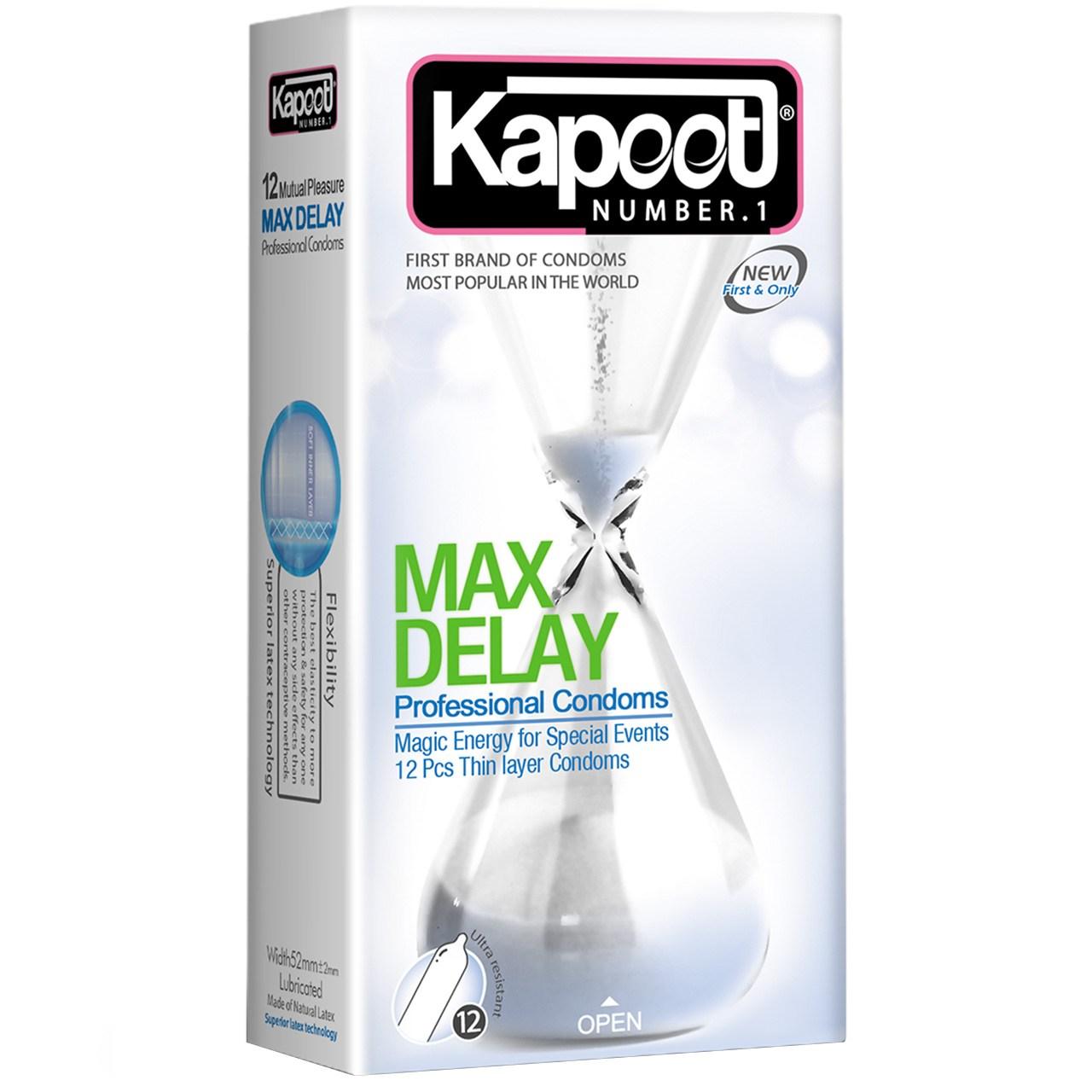 قیمت کاندوم کاپوت مدل Max Delay بسته 12 عددی