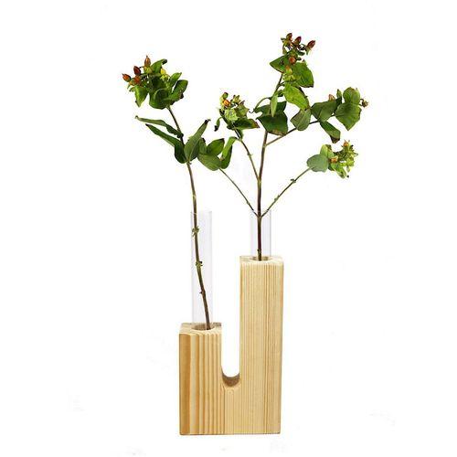گلدان چوبی گلدونه مدل GWV02
