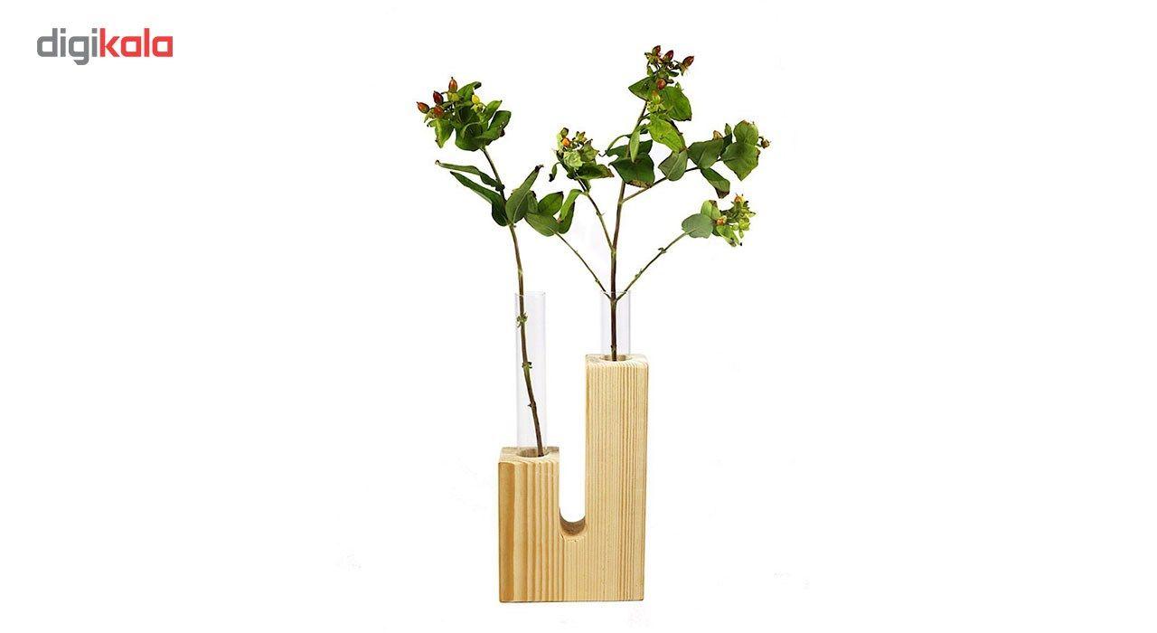 گلدان چوبی گلدونه مدل GWV02 main 1 1