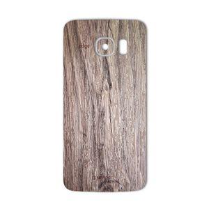 برچسب تزئینی ماهوت مدل Walnut Texture مناسب برای گوشی  Samsung S6 Edge