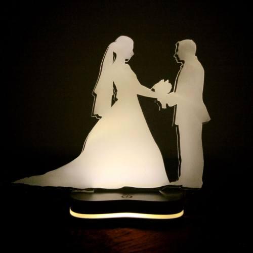 چراغ خواب سه بعدی گالری دکوماس طرح زن و شوهر کد DMS103