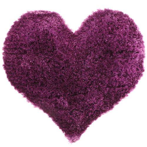 پادری فرش بهتافت طرح قلبی  P53 پرز بلند سایز 100x100