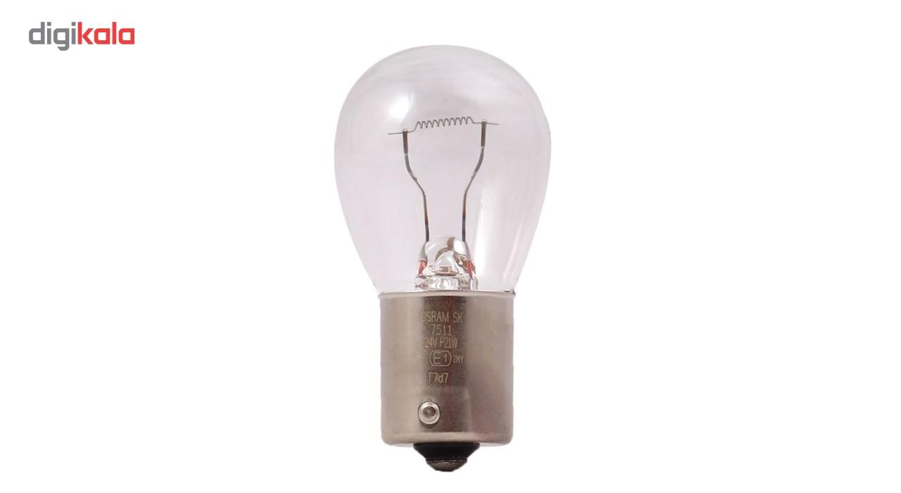 لامپ خودرو اسرام مدل P21W 24V 21 W Original 7511 بسته 10 عددی
