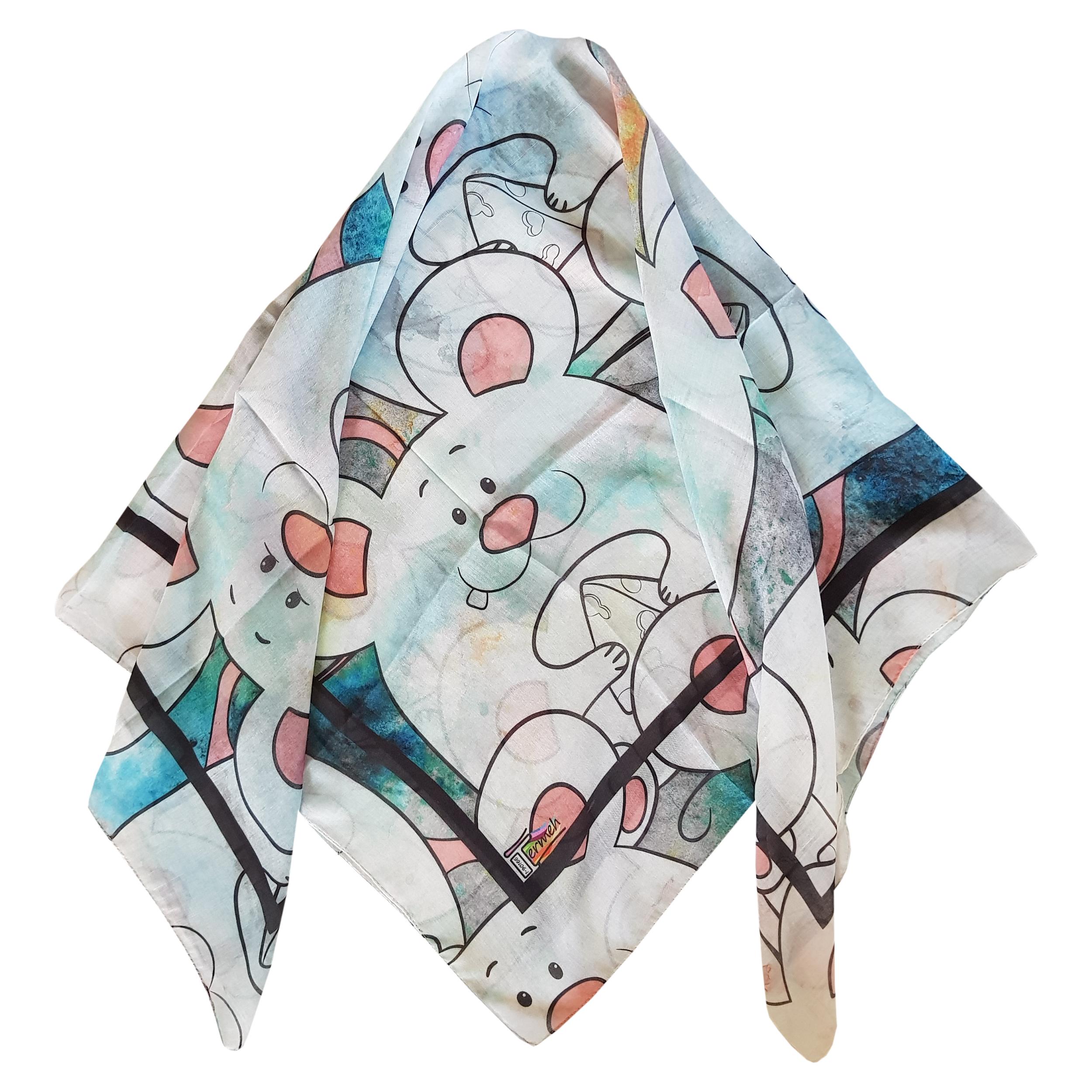 روسری دخترانه ترمه مدل موش کد 1san31-7