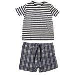ست تی شرت و شلوارک مردانه لیورجی مدل 0050806