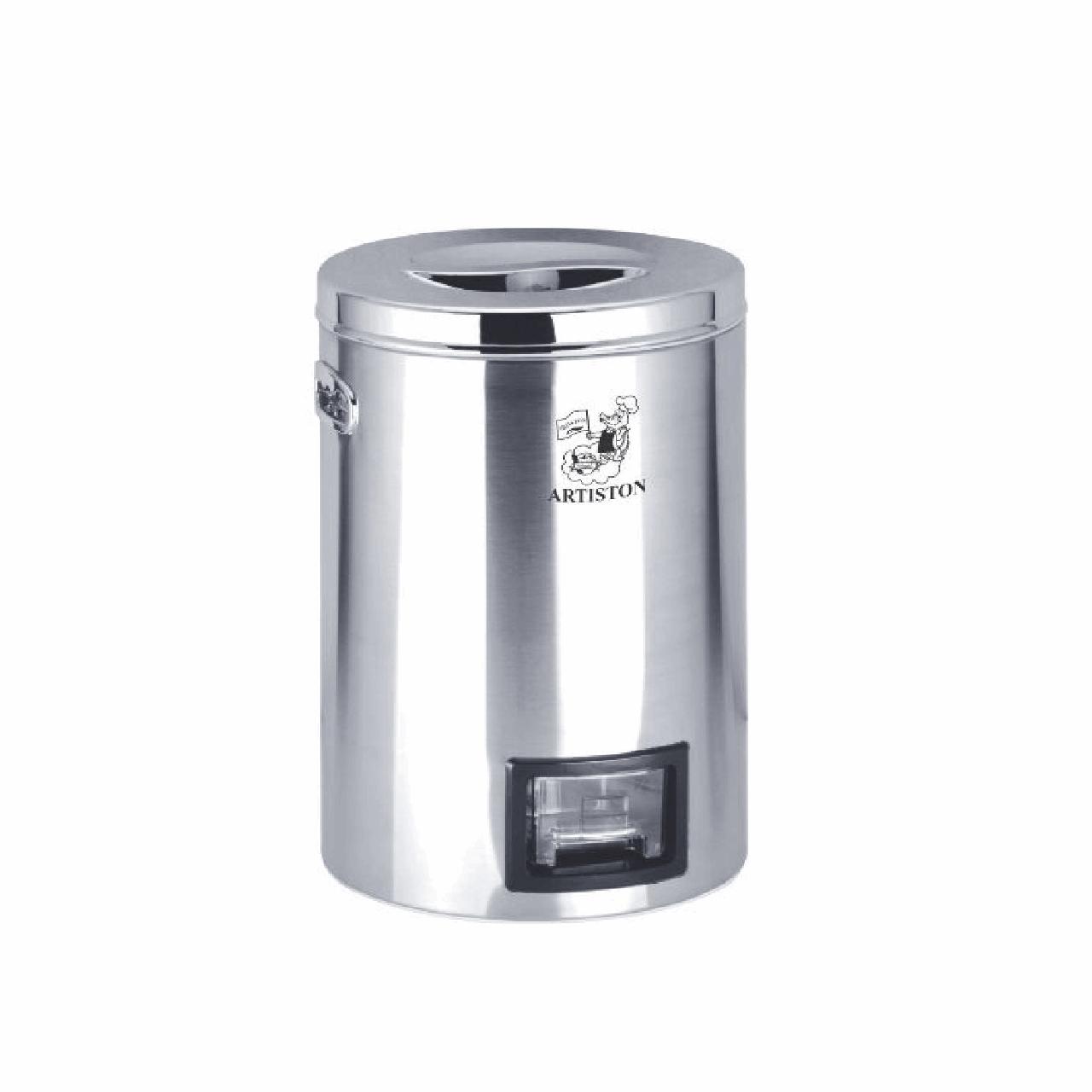 سطل برنج استیل  پیمانه دار آرتیستون مدل 008 گنجایش 10 کیلوگرم