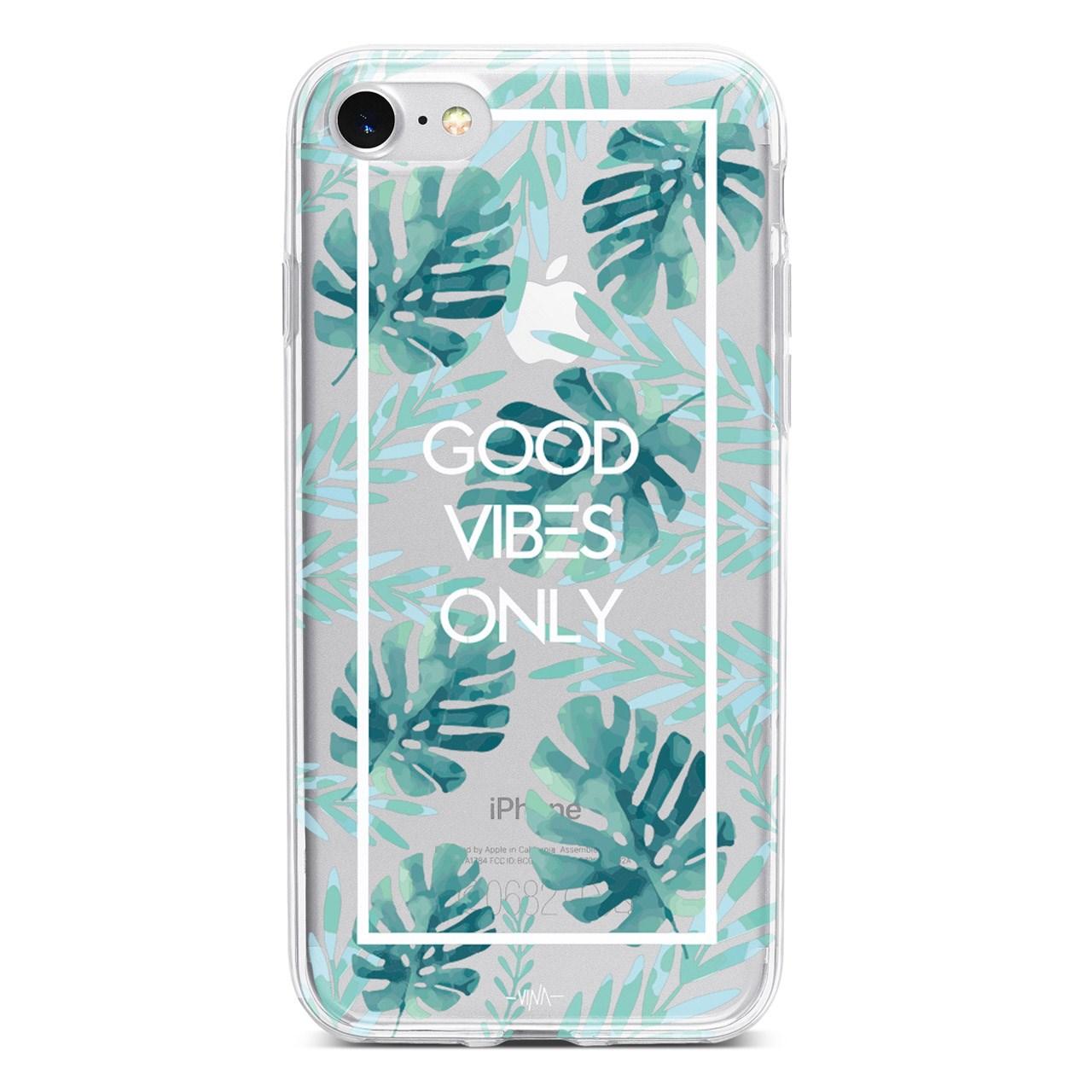 کاور  ژله ای وینا مدل  Good Vibes Only مناسب برای گوشی موبایل آیفون 7 و 8