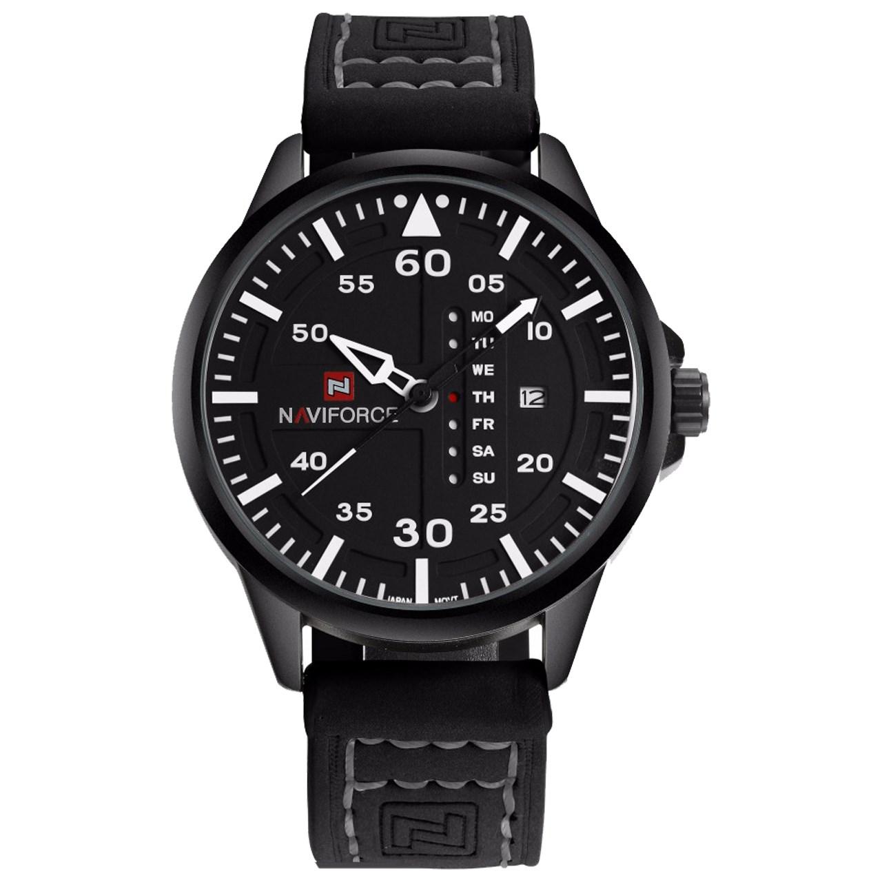 ساعت مچی عقربه ای مردانه نیوی فورس مدل NF9074M/BBW