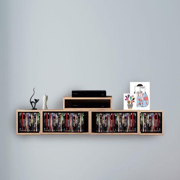 شلف دیواری مدل B19 مجموعه 5 عددی