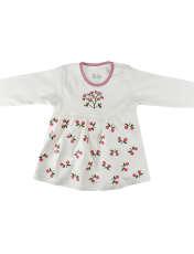 ست تونیک و شلوار نوزادی دخترانه نیروان طرح گل کد 1 -  - 3