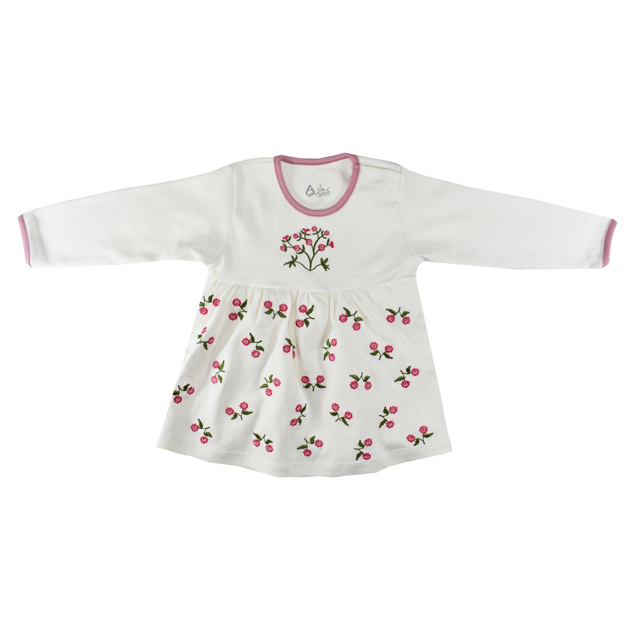 ست 3 تکه لباس نوزادی نیروان طرح گل کد 3 -  - 4