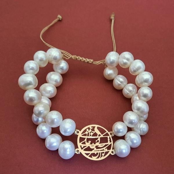 دستبند طلا 18 عیار زنانه الماسین آذر مدل SHER02