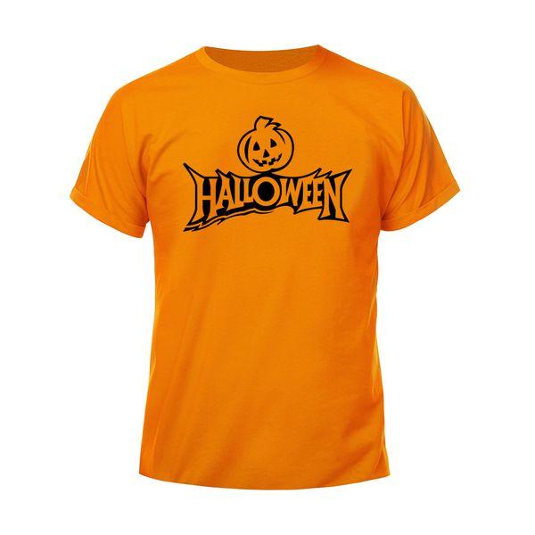 تی شرت زنانه مدل هالووین کد H65 رنگ نارنجی